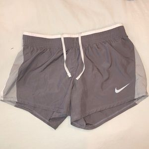 Nike gray running shorts